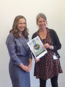 Jo Smith owner of Fine Fettle Cheap Street recieves Silver Fair Trade Award