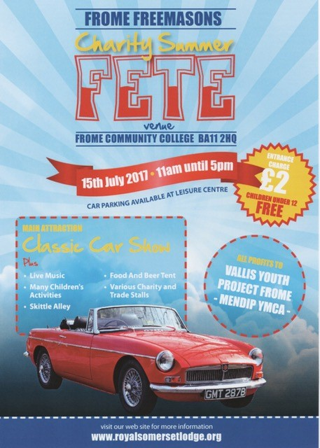 Frome Freemasons Summer Fete - Discover Frome