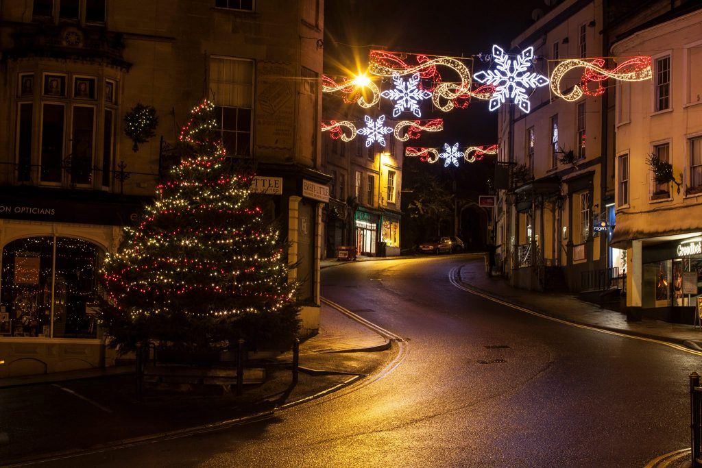 Christmas lights in Frome