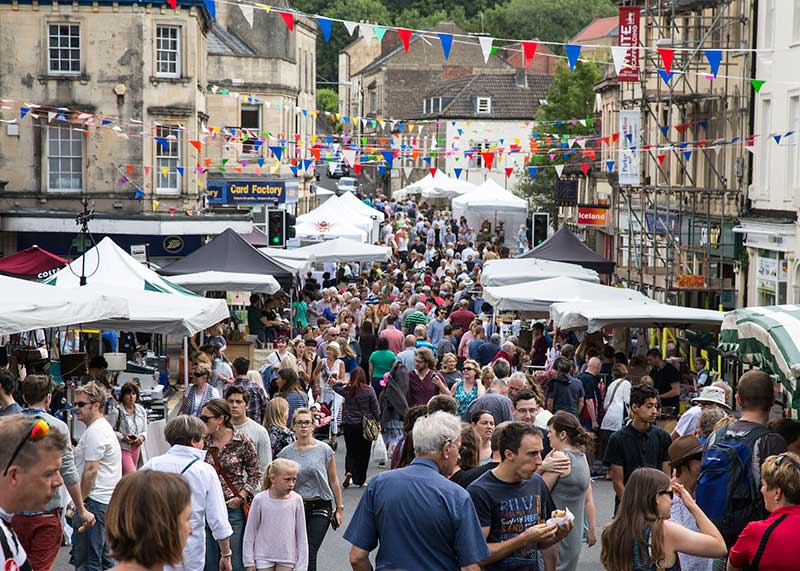 Events such as the Frome Independent Market are a staple of Frome life and a great attraction to visitors, as are the many other events in Frome