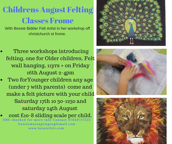 Last Sunday In August Felt More Like >> Children S August Felting Classes Discover Frome