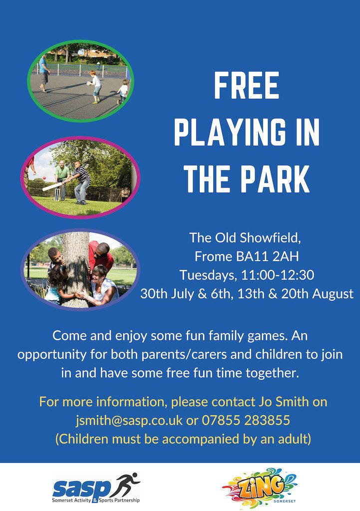 Free playing in the park