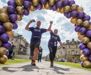 Two walkers completing Walk of Life charity walk