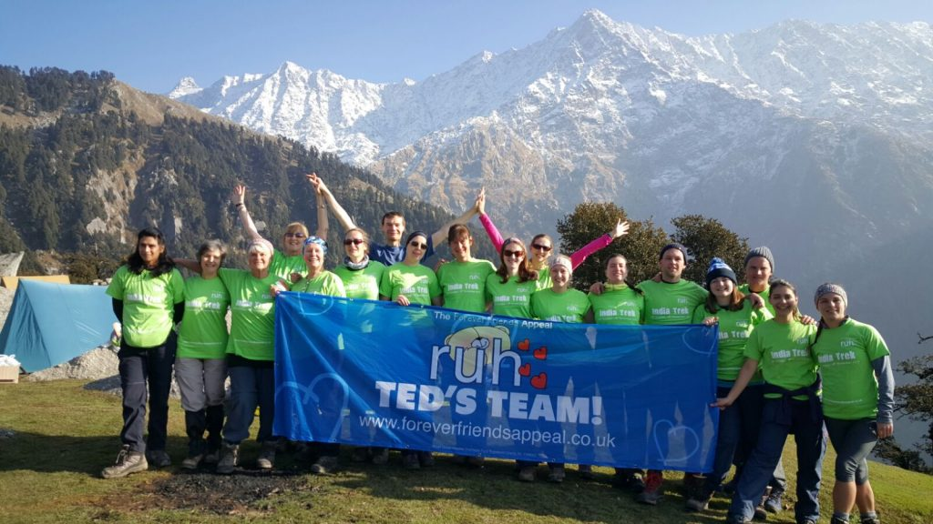 Royal United Hospital charity trek team in the Himalayas