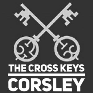 Cross keys Corsely sign
