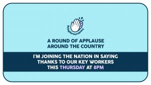 A round of applause around the country - clap for our carers