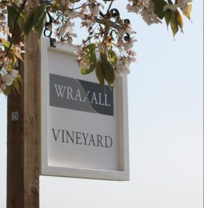 Wraxell Vineyard sign