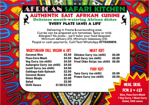 African Safari Kitchen menu