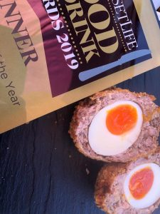 scotch egg cut in half