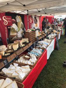 Cheese stall at market