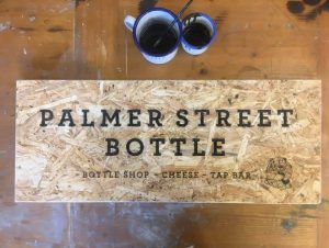 Palmer Street Bottle sign