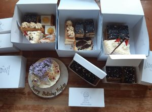 Boxes of cakes