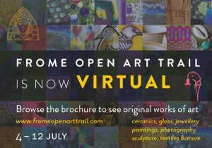 Frome Virtual art trail poster