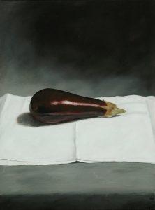 Painting: aubergine