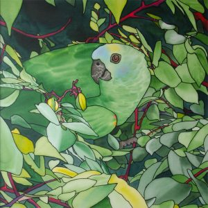 Painting of parrot