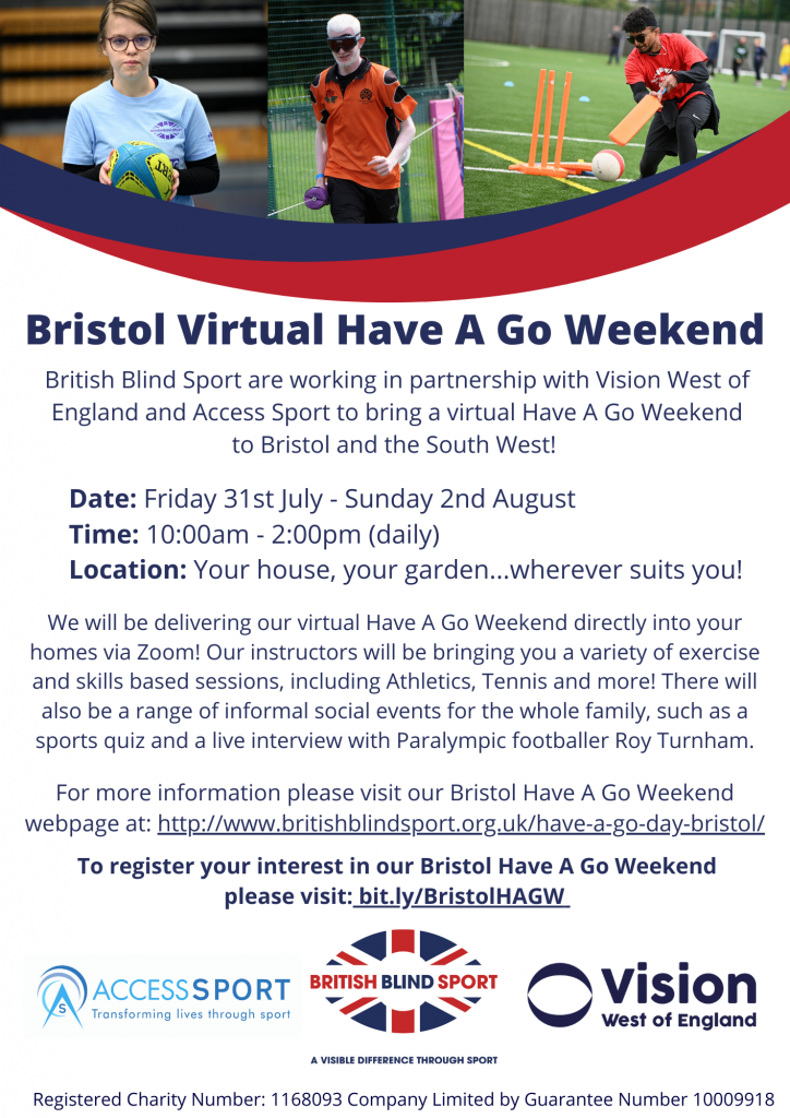 Bristol Virtual Have A Go Weekend poster