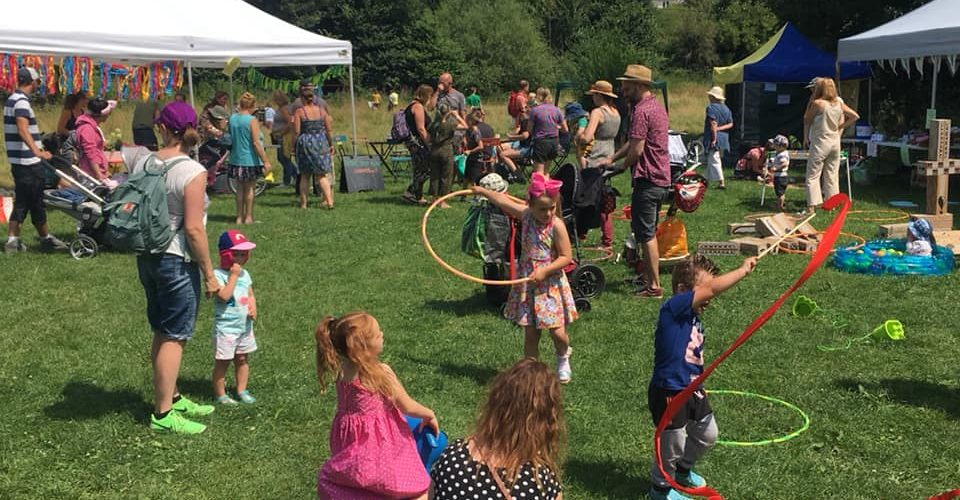 Children playing at Frome Festival event 2019