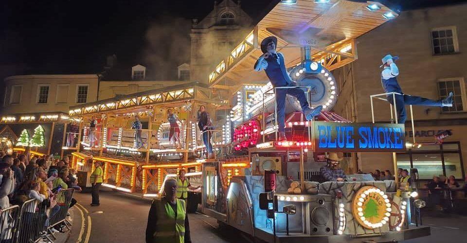 Illuminated carnival float, Frome
