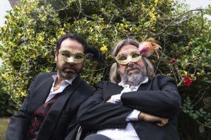 Belshazzar's Feast - two men wearing masks