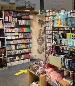 Interior of Amica gift shop