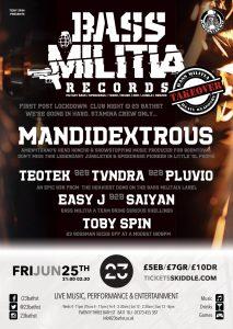 Bass Militia Records poster
