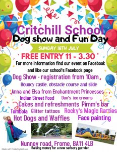 Critchill school dog show and fun day