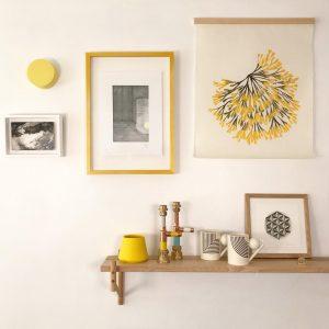 Display of artwork at Kobi & Teal