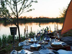 Marston Park lakeside dining