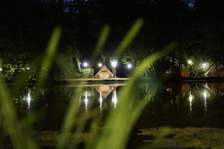 Marston park at night