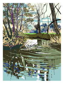 painting of the river Frome