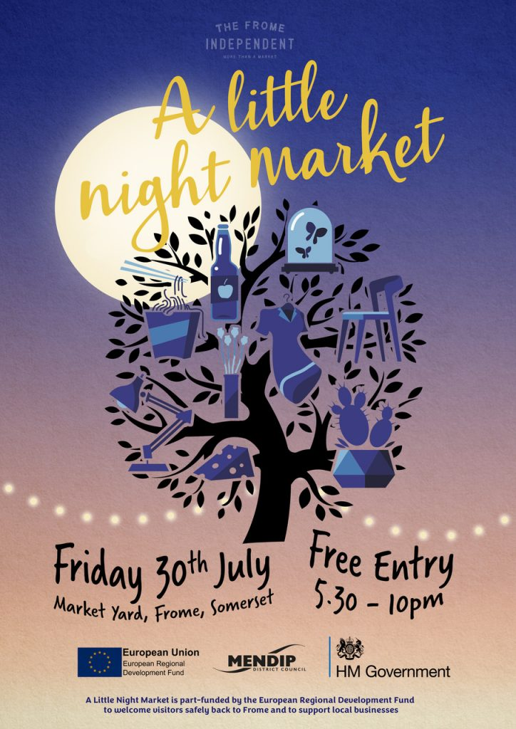 Frome Independent Night market poster