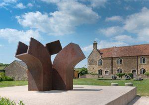 Eduardo Chillida sculpture at Hauser and Wirth