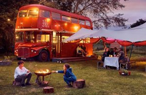 Red bus bistro at Nesta camping