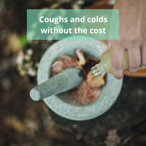 Coughs and colds without the cost poster