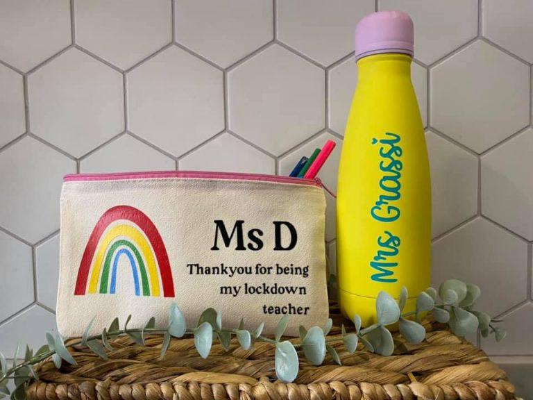Little Boho Design water bottle and pencil case