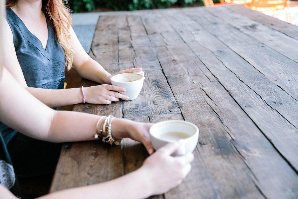 People sitting having a coffee