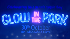 Glow in the park banner