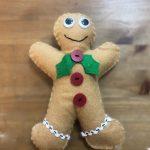 felt gingerbread man