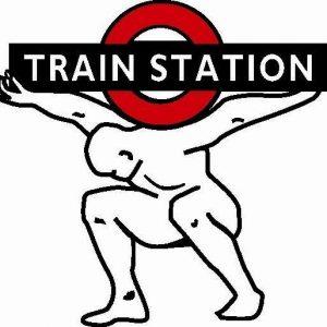 Train station gym logo